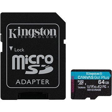 Kingston Canvas Go! Plus microSDXC 64GB + SD adaptér (SDCG3/64GB)