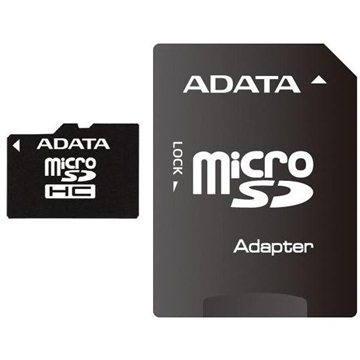 ADATA MicroSDHC 8GB Class 4 + SD adaptér (AUSDH8GCL4-RA1)