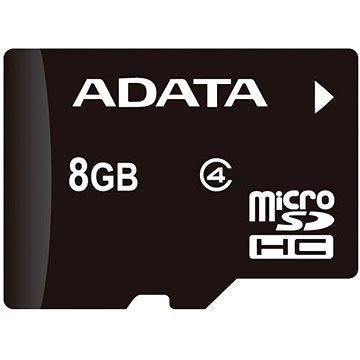 ADATA MicroSDHC 8GB Class 4 + OTG mikro čtečka (AUSDH8GCL4-ROTGMBK)