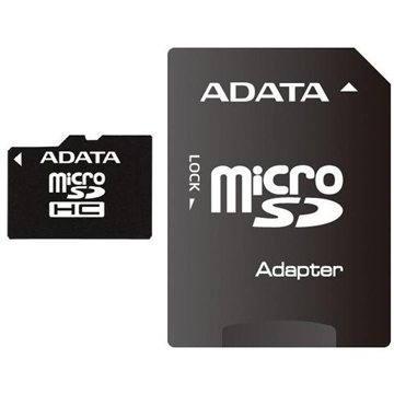 ADATA MicroSDHC 8GB Class 10 + adaptér (AUSDH8GUICL10-RA1)