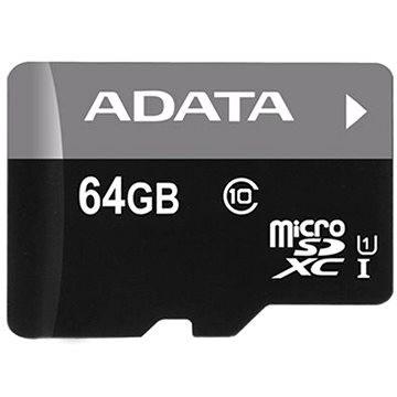 ADATA MicroSDXC 64GB UHS-I Class 10 + OTG čtečka (AUSDX64GUICL10-ROTGMBK)