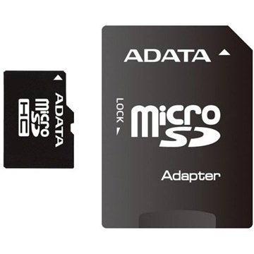 ADATA MicroSDHC 16GB Class 4 + SD adaptér (AUSDH16GCL4-RA1)