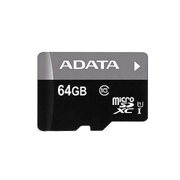 ADATA Premier MicroSDXC 64GB UHS-I + SD adaptér (AUSDX64GUICL10-RA1)