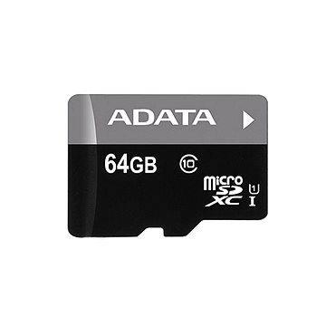 ADATA Premier Micro SDXC 64GB UHS-I + USB čtečka (AUSDX64GUICL10-RM3BKBL)