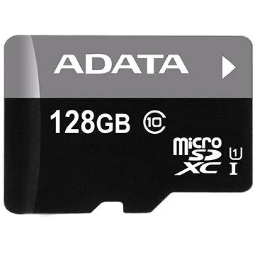 ADATA Premier Micro SDXC 128GB UHS-I + SD adaptér (AUSDX128GUICL10-RA1)