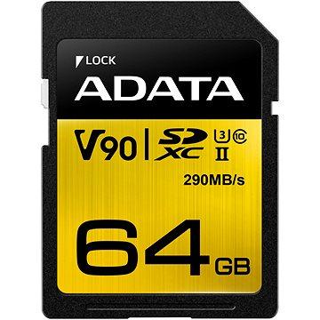 ADATA Premier ONE SDXC 64GB UHS-II U3 Class 10 (ASDX64GUII3CL10-C)