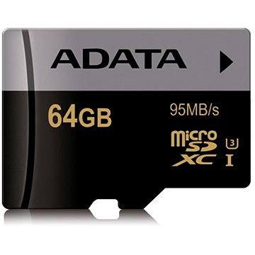 ADATA Premier Micro SDXC 64GB UHS-I U3 Class 10 (AUSDX64GUI3CL10-R)