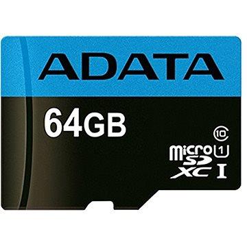 ADATA Premier MicroSDXC 64GB UHS-I Class 10 (AUSDX64GUICL10A1-R)