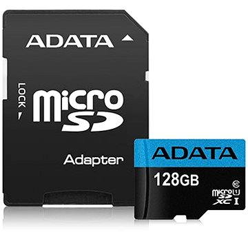 ADATA Premier Micro SDXC 128GB UHS-I Class 10 + SD adaptér (AUSDX128GUICL10 85-RA1)