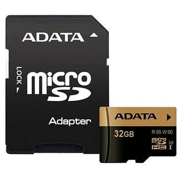 ADATA XPG MicroSDHC 32GB UHS-I U3 Class 10 + SDHC adaptér (AUSDH32GXUI3-RA1)