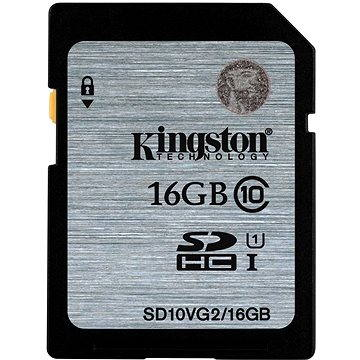 Kingston SDHC 16GB Class 10 UHS-I (SD10VG2/16GB)