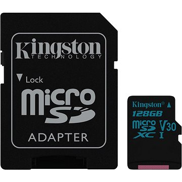 Kingston Canvas Go! MicroSDXC 128GB UHS-I U3 + SD adaptér (SDCG2/128GB)