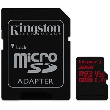 Kingston Canvas React MicroSDHC 32GB A1 UHS-I V30 U3 + SD adaptér (SDCR/32GB)