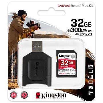 Kingston Canvas React Plus SDHC 32GB + čtečka karet (MLPR2/32GB)