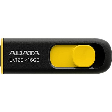 ADATA UV128 16GB černo-žlutý (AUV128-16G-RBY)