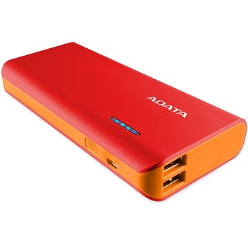 ADATA PT100 Power Bank 10000mAh červeno-oranžová (APT100-10000M-5V-CRDOR )