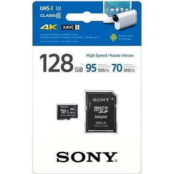 Sony micro SDXC 128GB Class 10 UHS-I U3 + SD adaptér (SRG1UXA)