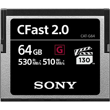 SONY G SERIES COMPACT FLASH CFAST 2.0 64GB (CAT-G64-R)