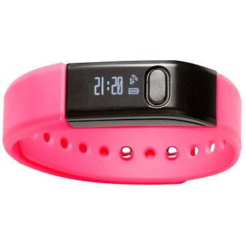 Fitness náramek Denver Fitnessband with Bluetooth 4.0 function růžový (5706751025143)