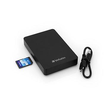 """VERBATIM Store´n´ Go 2,5"""" 1TB černý se čtečkou karet + 16GB SDHC karta (53421)"""