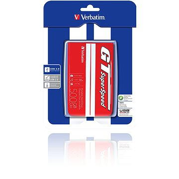 "Verbatim 2.5"" GT Superspeed USB HDD 500GB Red/ white (53084)"