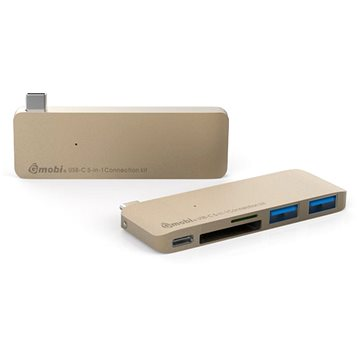 Gmobi Multi-port USB-C Hub zlatý (GM-GN21B-Gold)