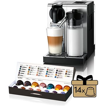 NESPRESSO DéLonghi Lattissima EN750.MB + ZDARMA Voucher Nespresso voucher na 80 kapslí Grand Cru kávy