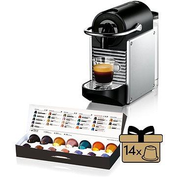 NESPRESSO DéLonghi Pixie EN125.S + ZDARMA Voucher Nespresso voucher na 80 kapslí Grand Cru kávy