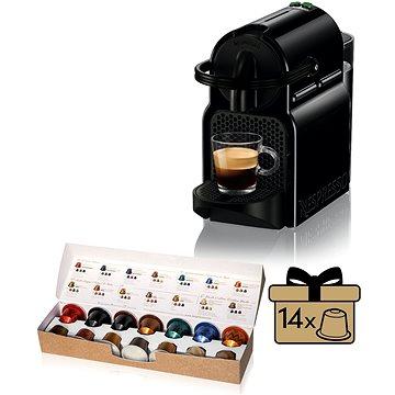 NESPRESSO DéLonghi Inissia EN80.B + ZDARMA Voucher Nespresso voucher na 80 kapslí Grand Cru kávy