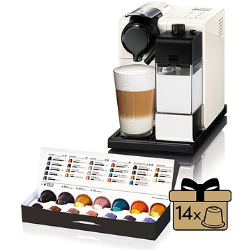 NESPRESSO DéLonghi Lattissima Touch EN550.W (EN550W) + ZDARMA Poukaz NESPRESSO Voucher na nákup kávy v hodnotě 2000Kč