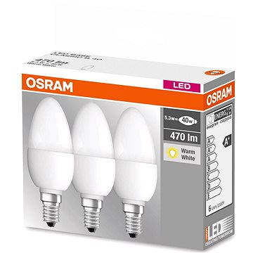 Osram Base B 5.3W E14 2700K set 3ks (4052899955493)