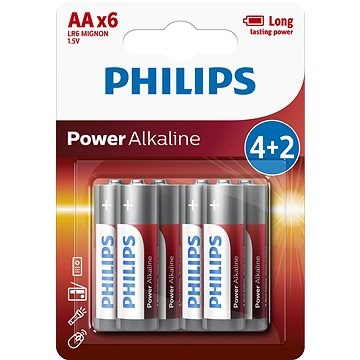 Philips LR6P6BP 6ks v balení (LR6P6BP/10)