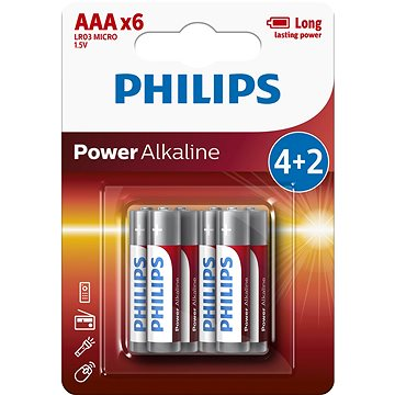 Philips LR03P6BP 6ks v balení (LR03P6BP/10)