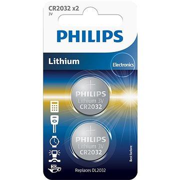 Philips CR2032P2 2ks v balení (CR2032P2/01B)