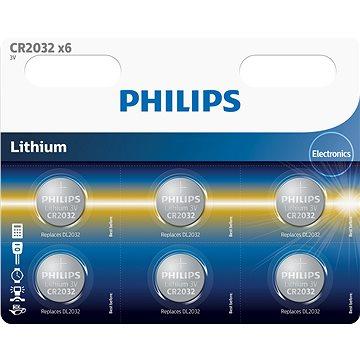 Philips CR2032P6 6ks v balení (CR2032P6/01B)
