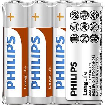 Philips R03L4F 4 ks v balení (R03L4F/10)