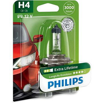 Philips H4 LongLife EcoVision (12342LLECOB1)
