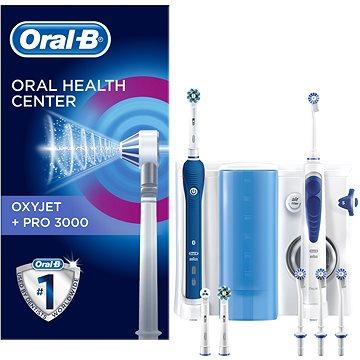 Elektrický zubní kartáček Oral B Oxyjet + 3000 (4210201377818) + ZDARMA Elektrický zubní kartáček Oral-B PRO 600 Cross Action