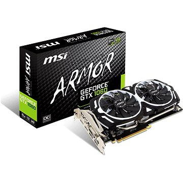 MSI GeForce GTX 1060 ARMOR 6G OCV1 + ZDARMA Hra pro PC The Rocket League