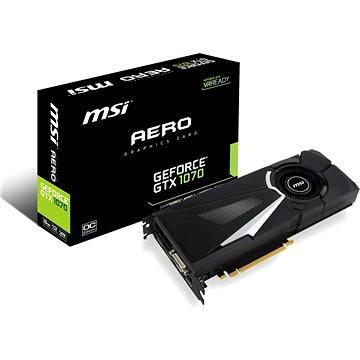 MSI GeForce GTX 1070 AERO 8G OC + ZDARMA Hra pro PC Hra dle vlastního výběru: For Honor nebo Ghost Recon: Wildlands