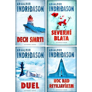 4 krimi romány Arnaldura Indridasona za výhodnou cenu