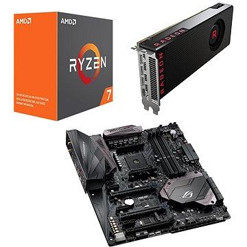 AMD RADEON VEGA BLACK PACK + AMD Ryzen 7 1700X + Asus X370 (Vega 64 Air with 1700X+Asus) + ZDARMA Hra pro PC Akční balíček her: Prey a Wolfenstein II: The New Colossus
