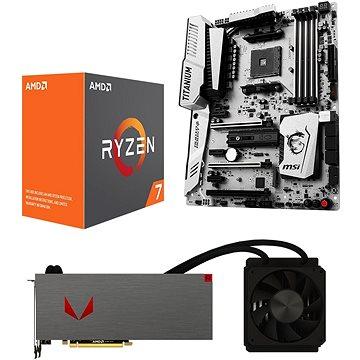AMD RADEON VEGA AQUA PACK + AMD Ryzen 7 1700X + MSI X370 (Vega 64 Liquid with 1700X+MSI) + ZDARMA Hra pro PC Akční balíček her: Prey a Wolfenstein II: The New Colossus