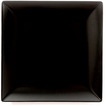 ELITE Talíř mělký čtvercový 26x26cm černý, sada 6ks (25001 černá)