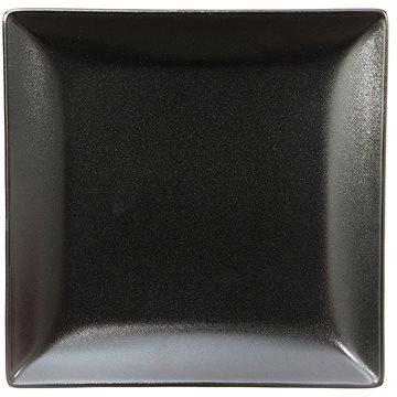 ELITE Talíř dezertní čtvercový 18x18cm černý, sada 6ks (25002 černá)