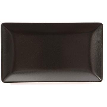 ELITE Talíř mělký obdélníkový 25x15cm černý, sada 6ks (25012 černá)