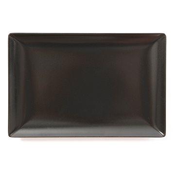 ELITE Talíř mělký obdélníkový 30x20cm černý, sada 6ks (2500430 černá)
