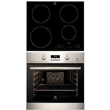 Electrolux EOB3454AOX + Electrolux EHH 6340 FXK (EL001aa) + ZDARMA Čistič Electrolux Sada čistících prostředků kuchyňských spotřebičů E6KK4106