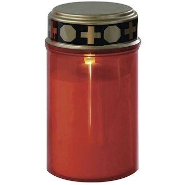 EMOS LED hřbitovní svíčka se senzorem, 2× AA, červená (1457010040)