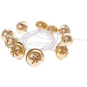 EMOS LED girlanda - zlaté rolničky, 2xAA, teplá bílá, časovač (1534197200)